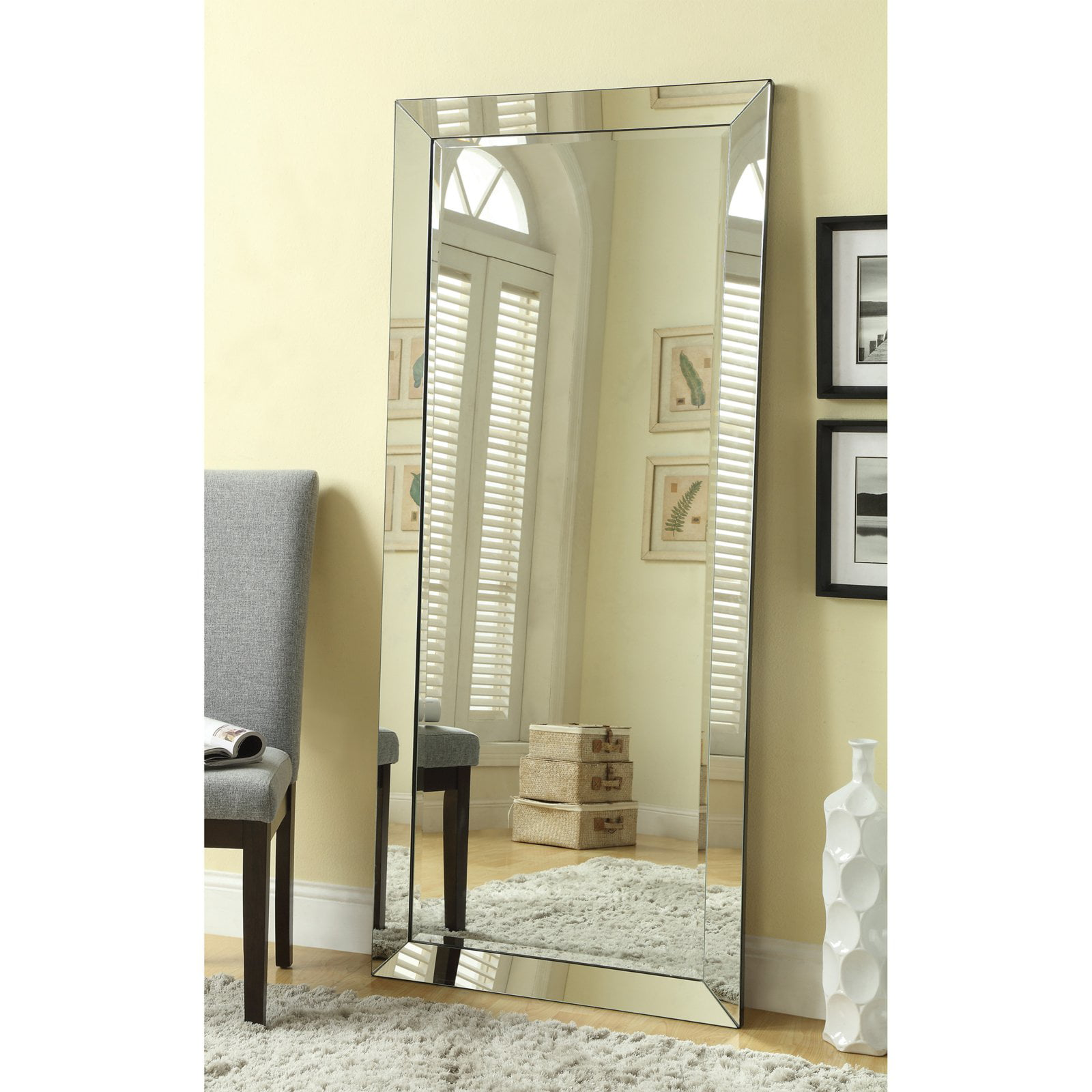 Click here to buy Coaster Company Silver Beveled Mirror by Coaster Company.