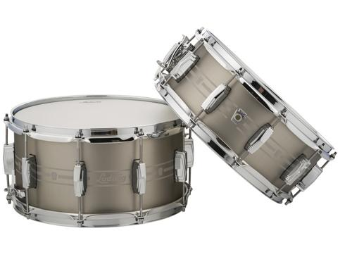 """Ludwig 5.5""""x14"""" Etched Stainless Steel Snare Drum by Ludwig"""