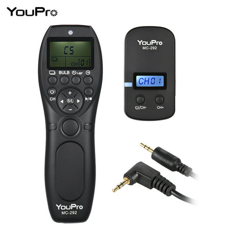 Canon Remote Switch Rs60 E3 (YouPro MC-292 E3 2.4G Wireless Remote Control LCD Timer Shutter Release Transmitter Receiver 32 Channels for Canon 80D 760D 750D 700D 70D 650D 600D 60D 550D 500D)
