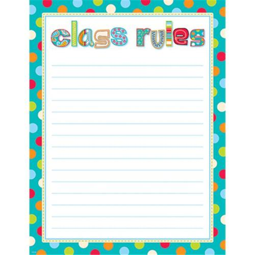 DOTS ON TURQUOISE CLASS RULES CHART