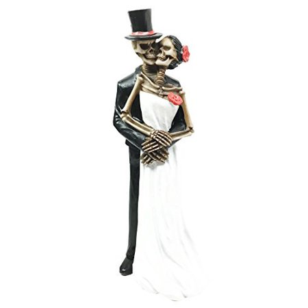Love Never Dies Eternal Skeleton Wedding Dance Couple Figurine Sculpture Dias De Los Muertos Day Of The Dead Decor - First Love Sculpture