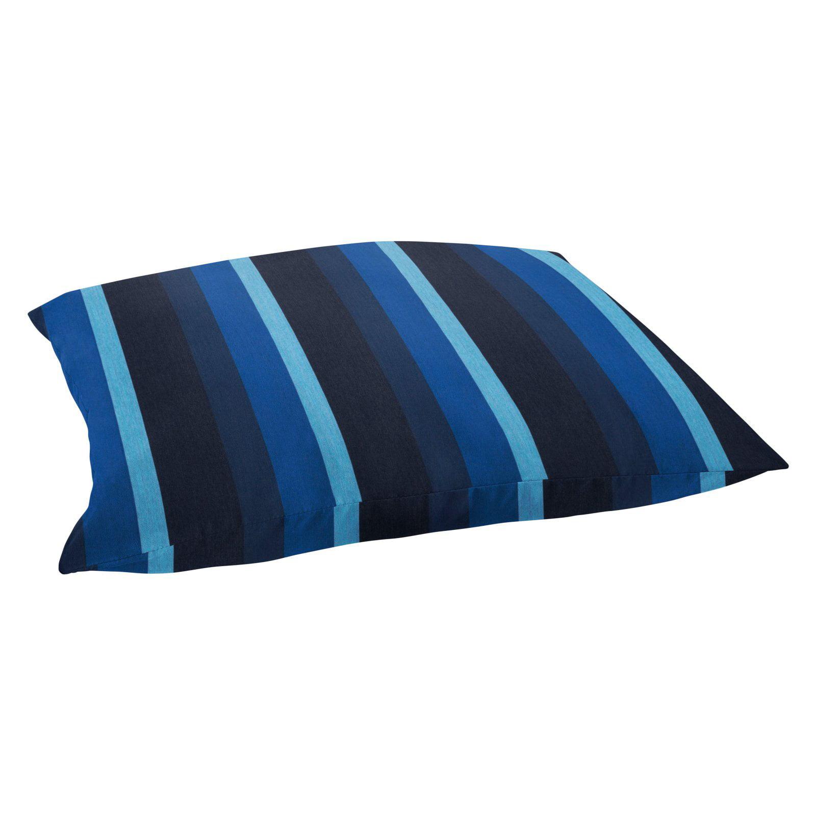 Mozaic Company Sunbrella Indigo Blue Stripe Outdoor Floor Pillow Walmart Com Walmart Com