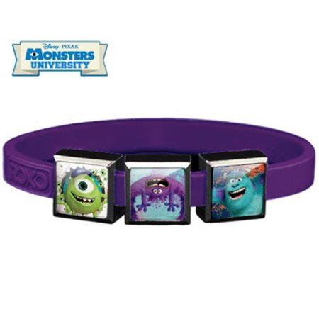 3-Charm Monsters University ROXO Bracelet (Size Small, Purple Band)