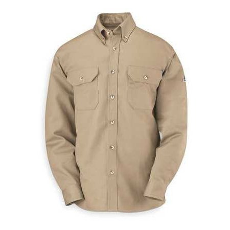 Slu2kh Ln/Xl Fr Long Sleeve Shirt, Khaki, Xlt, Button