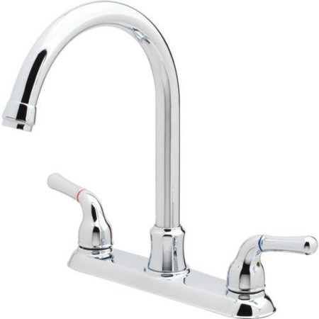 Aspen Pisa Kitchen Faucet Chrome Two Handle High Rise Spout