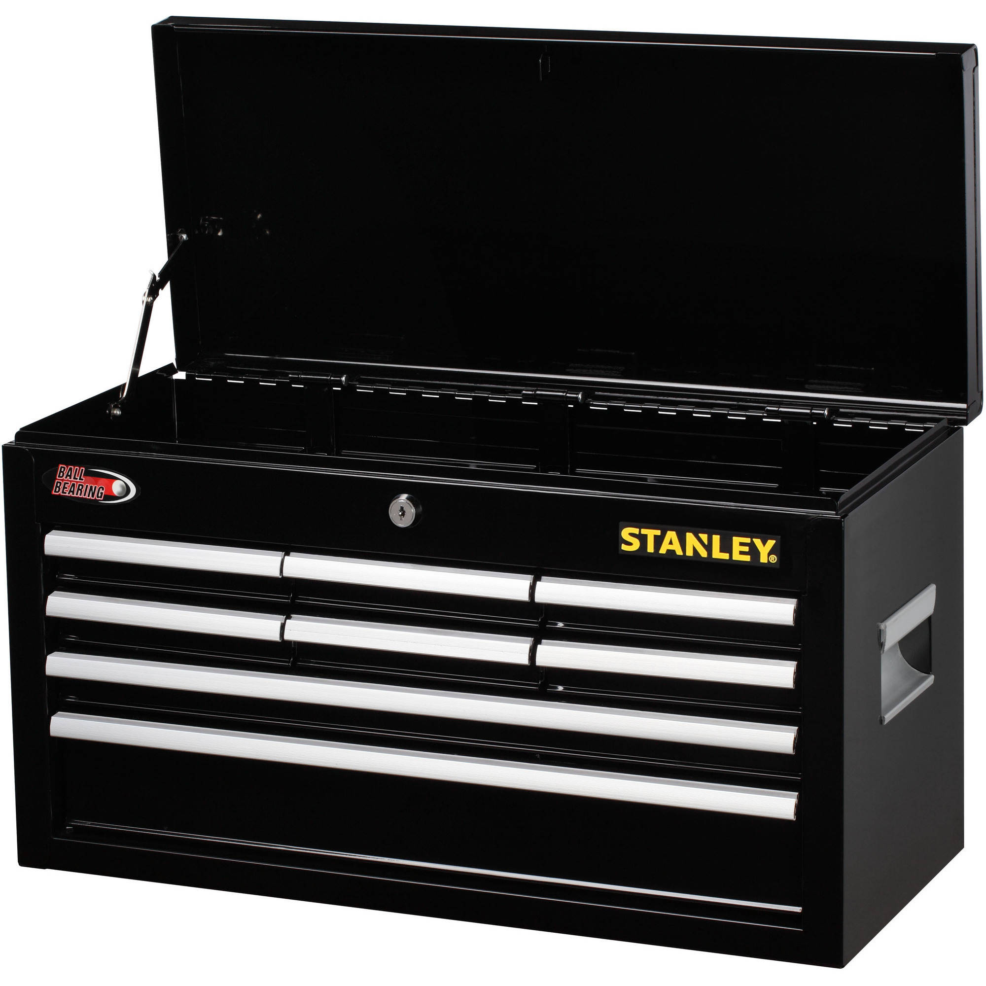 Stanley 8-Drawer Chest, Black