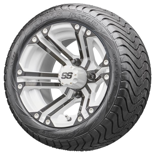 "Golf Cart Wheels and Tires Combo - 12"" RHOX RX334-Wb White ..."