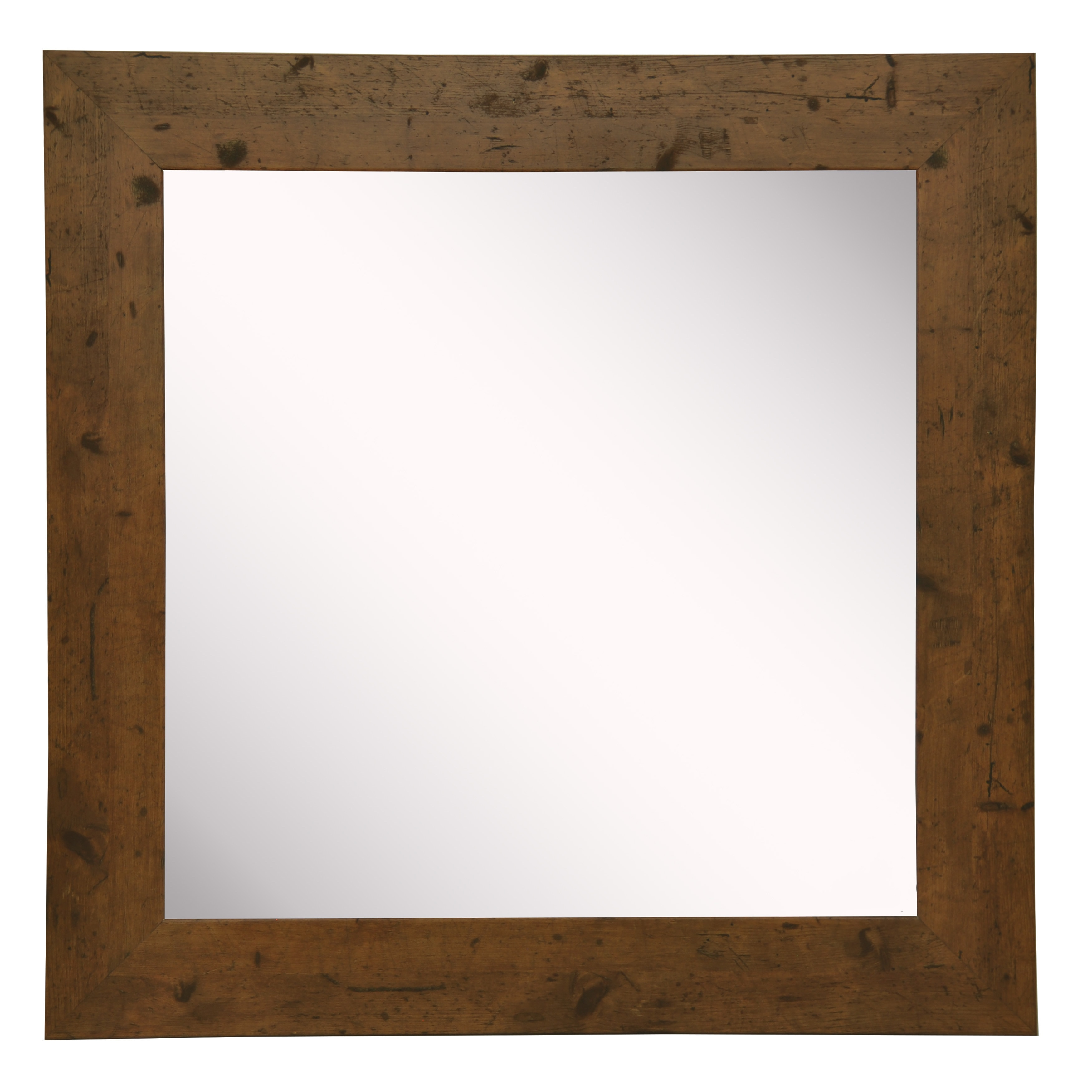 Rayne Mirrors American Made Rayne Rustic Light Walnut Vanity Wall Mirror
