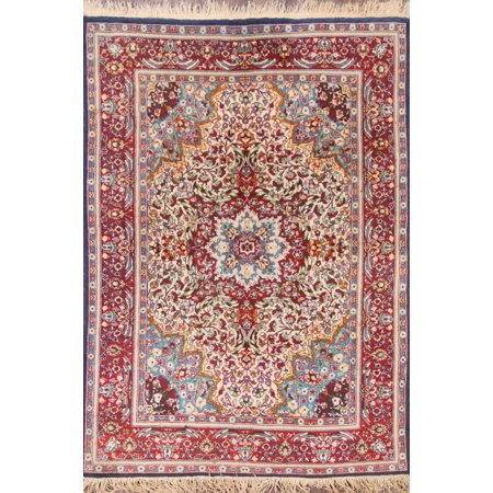 RugSource One-of-a-Kind Hand-Knotted Antique 5x7 Agra Oriental Area Rug Wool