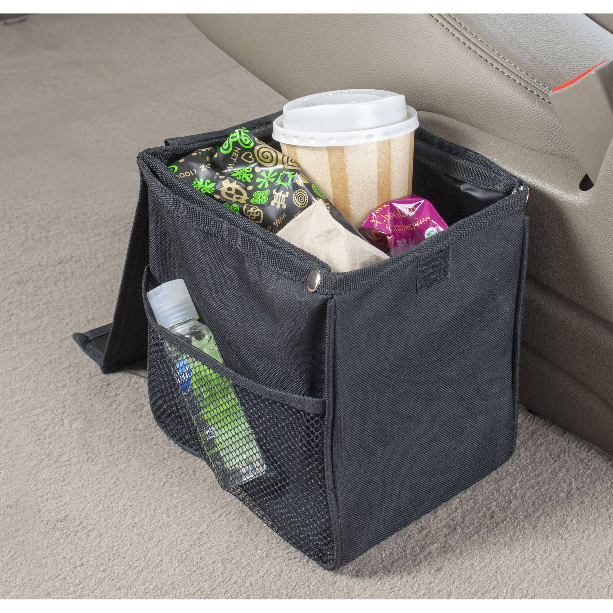 High Road TrashStand Leakproof And Weighted 125 Gal Car Floor Trash Can