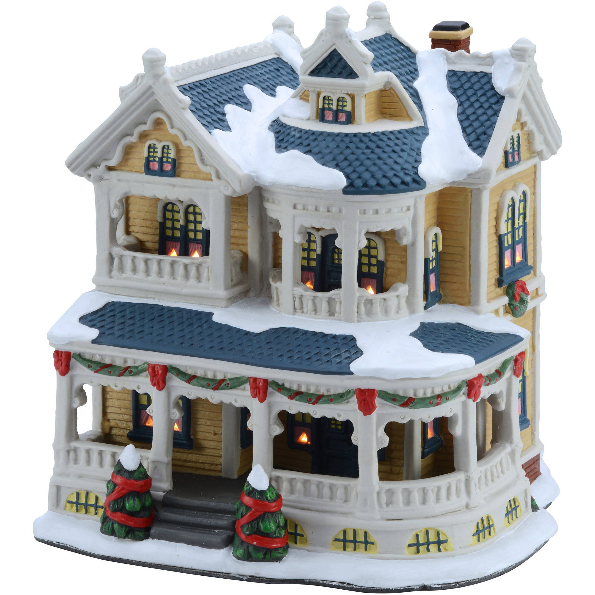 "holiday time 7 5"" victorian house christmas village walmart comholiday time 7 5"" victorian house christmas village"