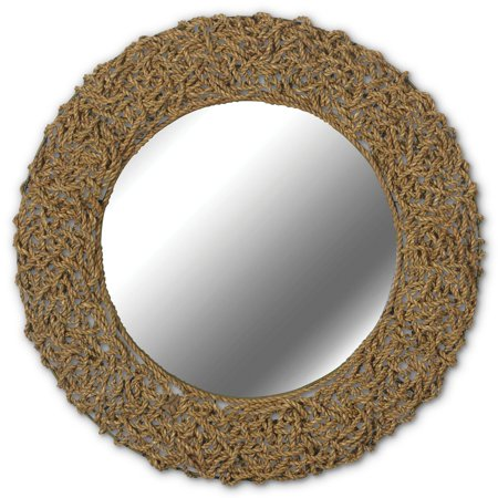 Kenroy Home Seagrass Wall Mirror, Natural Rope