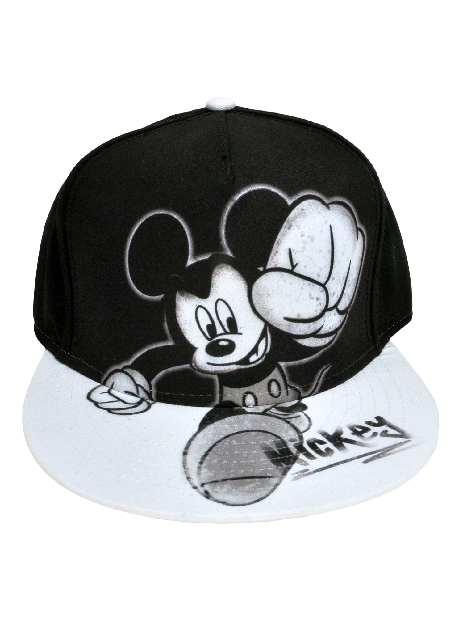Youth Boys Mickey Mouse Graphic Baseball Hat Cap - Black Snapback 0dd9ed97840