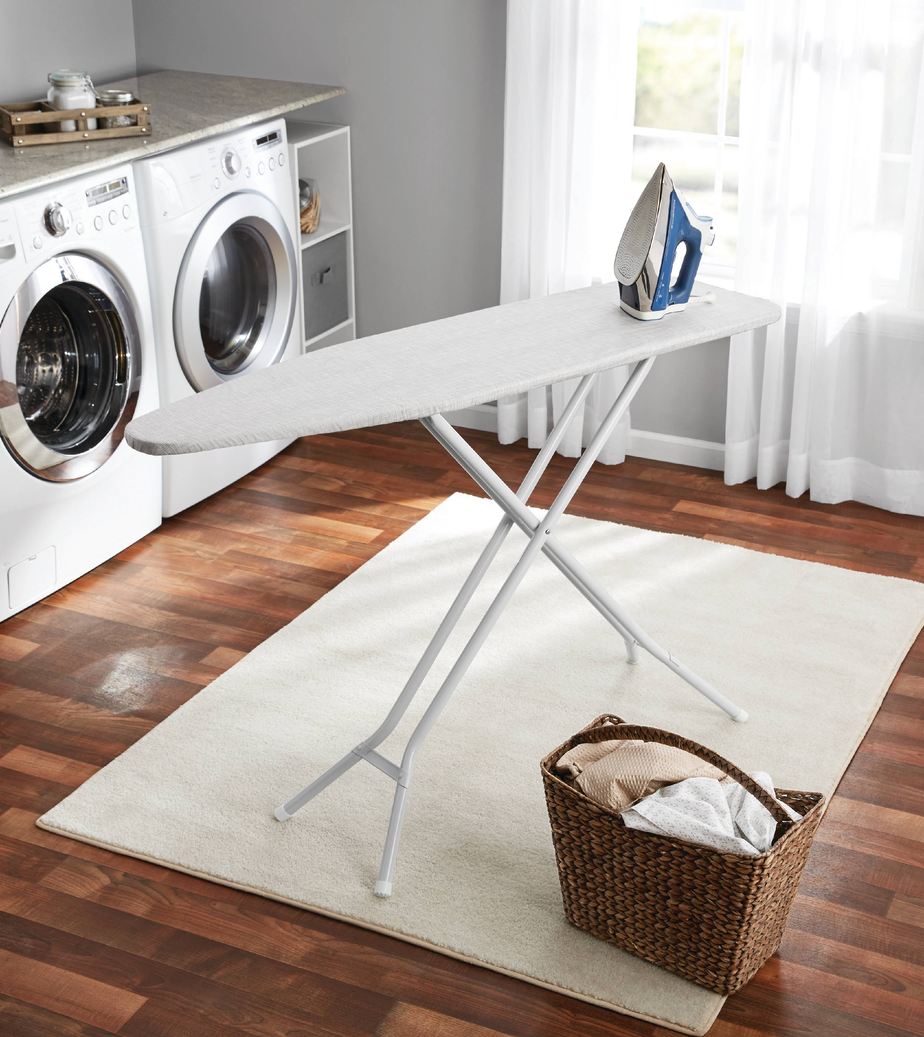Mainstays 4 Leg Ironing Board Gray Cotton Cover Walmartcom