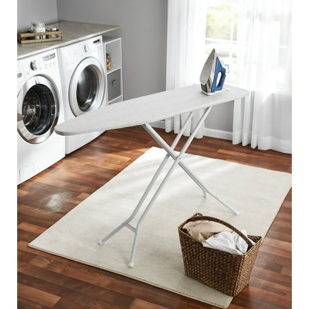 Mainstays 4-Leg Ironing Board, Gray Cotton (Best Ironing Board Extra Large)