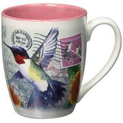 American Expedition Stoneware Curve Mug-Hummingbird Postcard