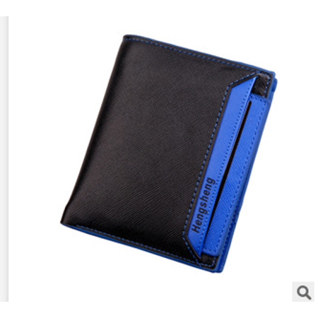Men Leather Bifold Wallet ID Credit Card Photo Holder Coin Purse Casual Pocket ()