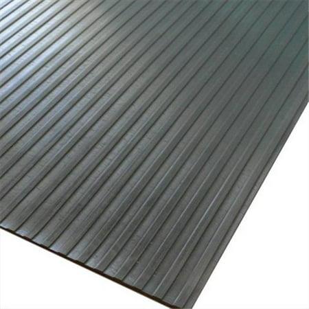 Wide Rib Corrugated Rubber Roll Floor Mat - 96 x 48 x 0.13 in. (48 X 96 Mat)