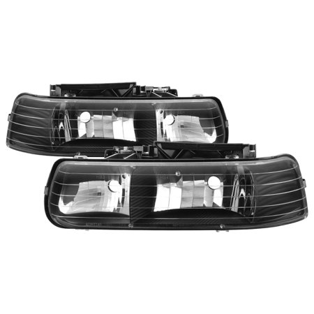 TD Crystal Headlights (Black) - 00- 06 Chevy Tahoe 1500/2500