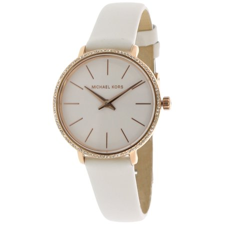 Michael Kors Women's Pyper MK2802 White Leather Quartz Fashion Watch