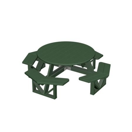 Eco Friendly Furnishings Patio Octagon Picnic Table Green
