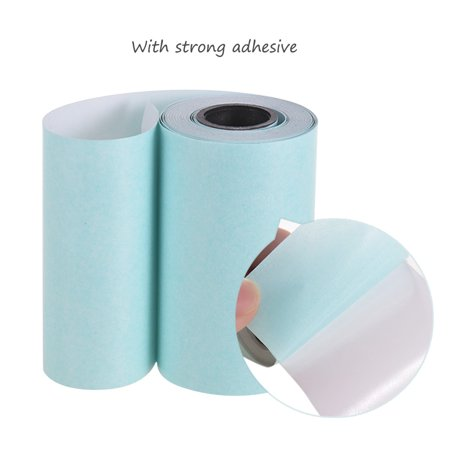 Printable Sticker Paper Roll Direct Thermal Paper with Self-adhesive  57*30mm(2 17*1 18in) for PeriPage A6 Pocket Thermal Printer for PAPERANG  P1/P2
