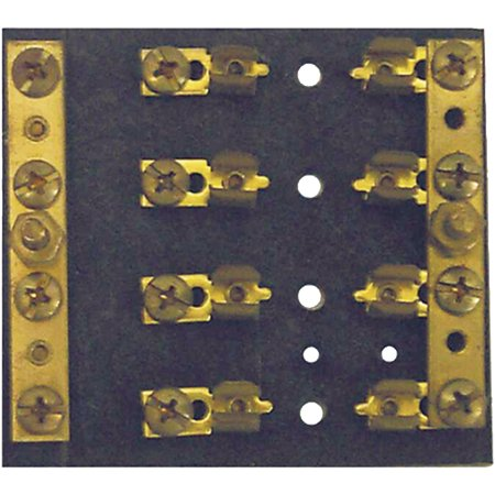 Gang Fuse Panel - Sierra FS40560-1 Hot Feed Common Ground 6 Gang SFE/AGC/MDL Fuse Block