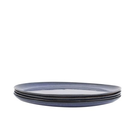 Dinner Cases ((Price/case)Bambeco Farmstead Stoneware Indigo Dinner Plate - Case of 4 - 4 Count)