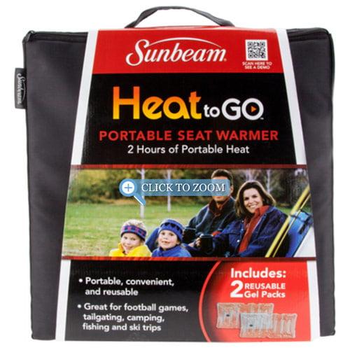 Sunbeam SSGP900-35 Heat to Go Portable Warming Stadium Seat, Black by SUNBEAM