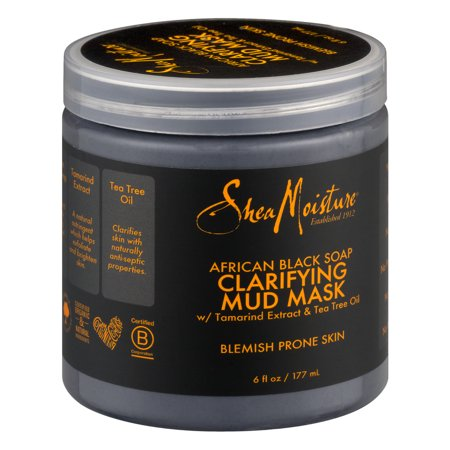 SheaMoisture African Black Soap Clarifying Face Mud (African Elephant Wall Mask)