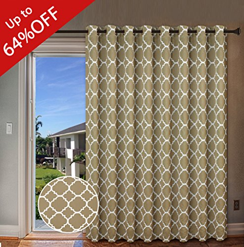 H.Versailtex Beautiful Quatrefoil Pattern Thermal Insulated Blackout Patio Curtains,... by H.VERSAILTEX