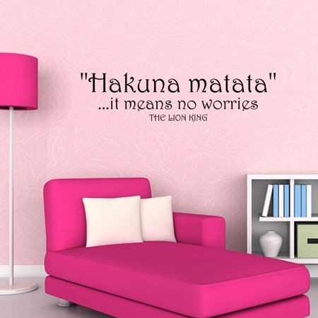 Wall Decal Quote Hakuna Matata It Means No Worries The Lion King Sticker JR411 - King Of The Hill Halloween Quotes
