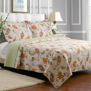 Greenland Home Fashions Barcelona 100pct Cotton Reversible Quilt Set