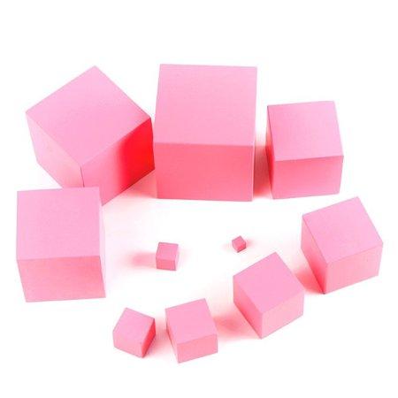 LeKing pour Montessori rose tour mathématiques jouet formation sensorielle blocs de construction en bois jouet d'éducation précoce - image 2 de 8