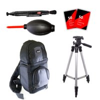 Tall Tripod, Sling BackPack and More For Sony Cyber-Shot DSC-800 DSC-RX100 Sony Alpha A99 II and All Sony Cameras