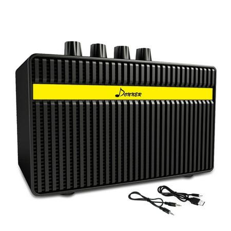 donner guitar amp 3w rechargeable mini electric amplifier. Black Bedroom Furniture Sets. Home Design Ideas