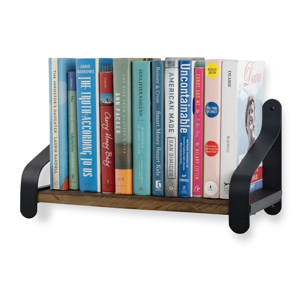 Rustico Reclaimed Solid Wood Rustic Wall Mounted Bookshelf with