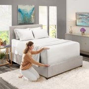 """King Size Extra Deep Pocket 6-Piece Bed Sheets Set White, Luxury Bedding Sheets Set with 4 Pillow Cases, Super Deep Fitted Sheet for High Mattress fits 18""""-24"""", Soft Microfiber, Hypoallergenic"""