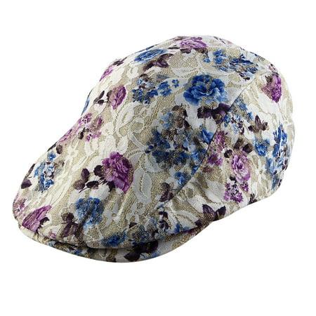 73dc0614 Women Ladies Summer Sun Mesh Newsboy Ivy Cap Driving Golf Flat Beret Hat  Khaki - image ...
