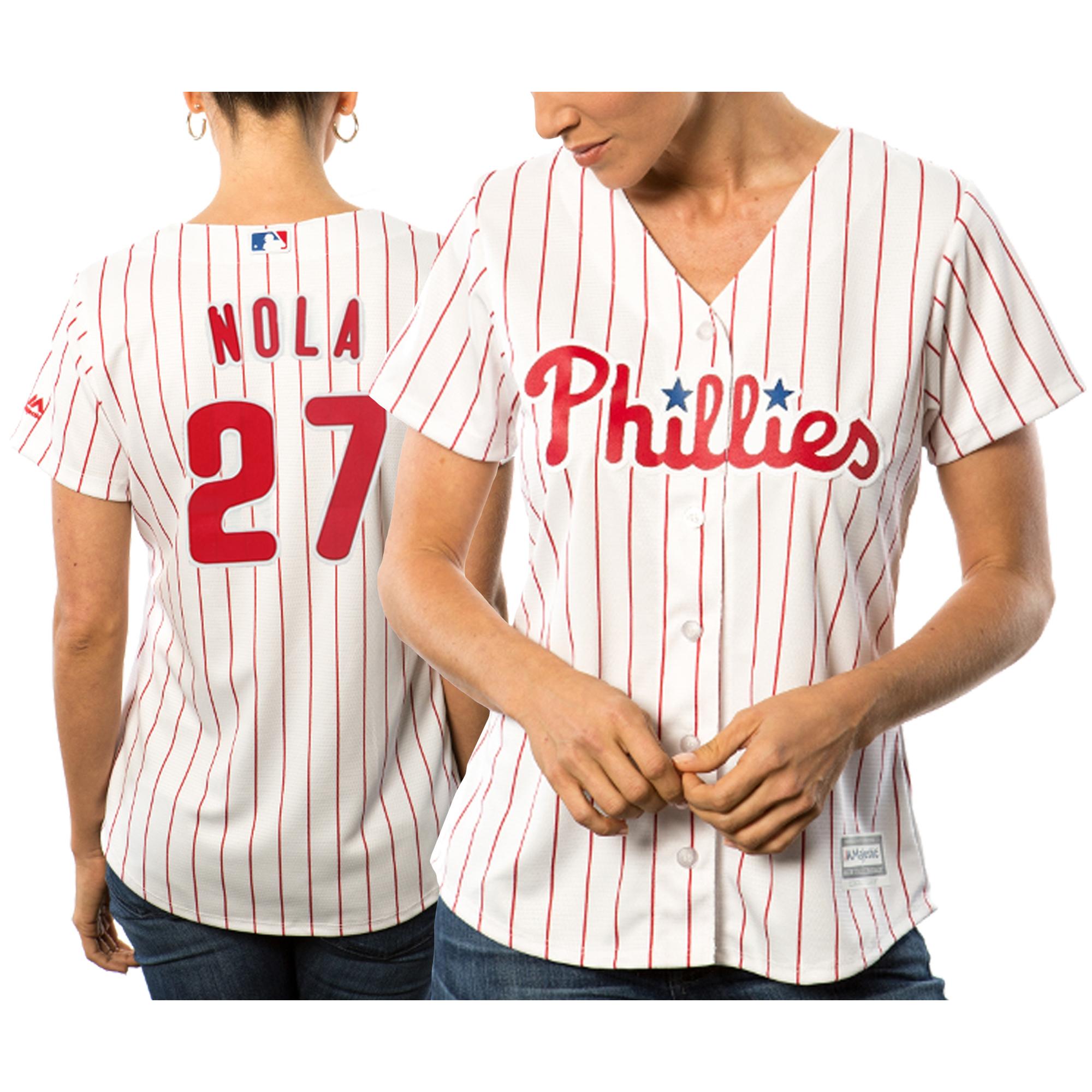 Aaron Nola Philadelphia Phillies Majestic Women's Cool Base Player Jersey - White