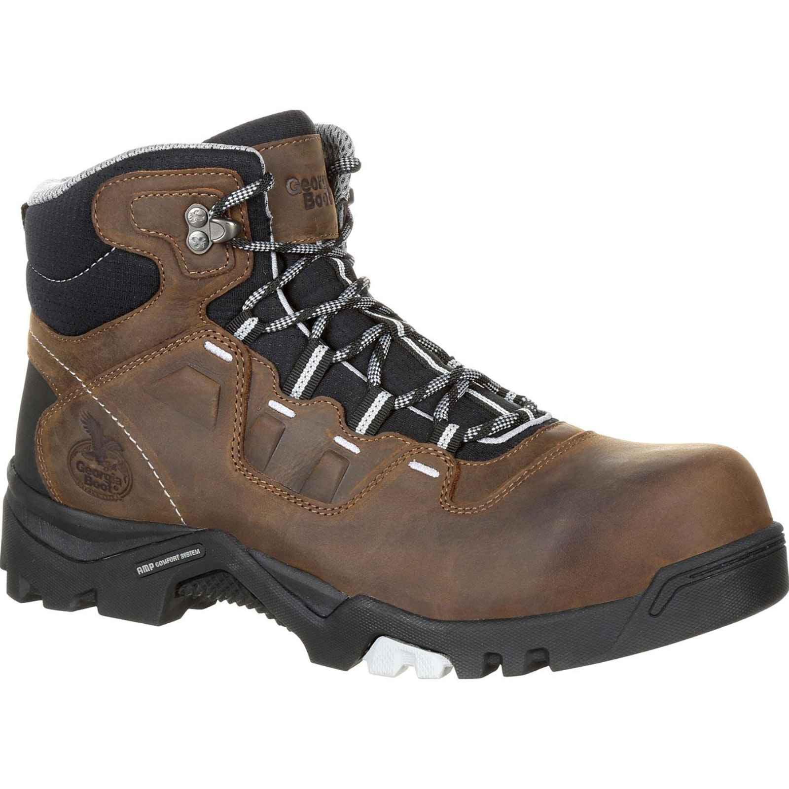 Georgia Boot Men's Brown Amplitude Composite Toe Waterproof Work Boot GB00216 by Georgia