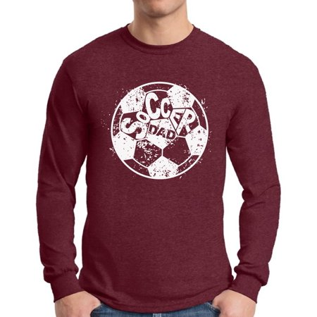 Awkward Styles Men's Soccer Dad Ball Graphic Long Sleeve T-shirt Tops White Vintage Father`s Day Best Soccer (Top 10 Best Soccer Players In The World)