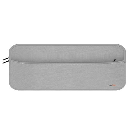 Pawtec Neoprene Full Size Protective Sleeve with Pocket for Accessories - Compatible with Apple Full-Size Magic Keyboard with Numeric Keypad, Magic Mouse 2, Magic Trackpad 2 (Silver) ()