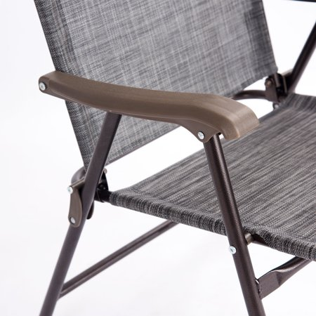 Costway Set of 2 Folding Sling Back Chair Camping Deck Patio Garden Beach - image 3 of 9