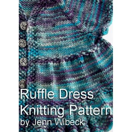 Ruffle Dress Baby Knitting Pattern - eBook