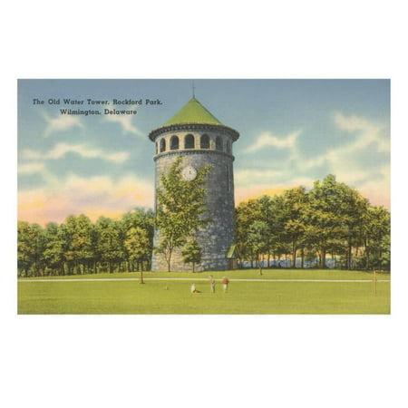 Rockford Park Water Tower Print Wall Art - City Market Rockford
