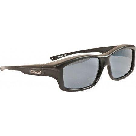 Fitovers Eyewear - Yamba - Satin Black/polarized Grey - Fits Over X-Large Eyewear - 146mm x (Fitovers Eyewear)