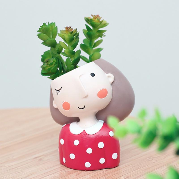 Details about  /1Pc Desktop Flowerpot Succulent Planter Animal Shape Flower Container Adornment