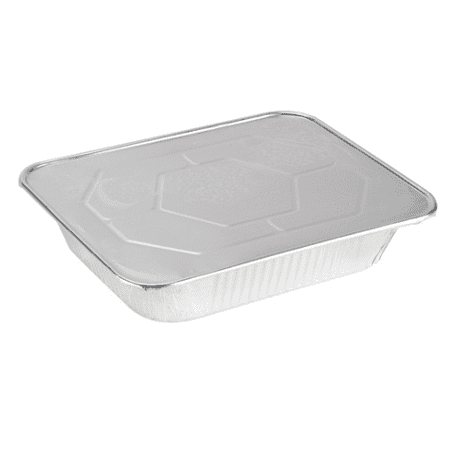 COMFY PACKAGE Half Size Deep 9 X 13 [HEAVY-DUTY] Aluminum Foil Steam Table Pans With Lids, (25 Pack -