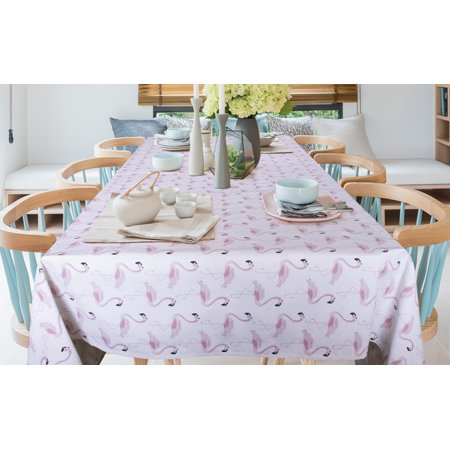 Tablecloth 52 X 70 Inch Flamingo Pink Table Cloth For 4
